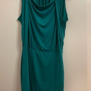 BCBG draped neck dress
